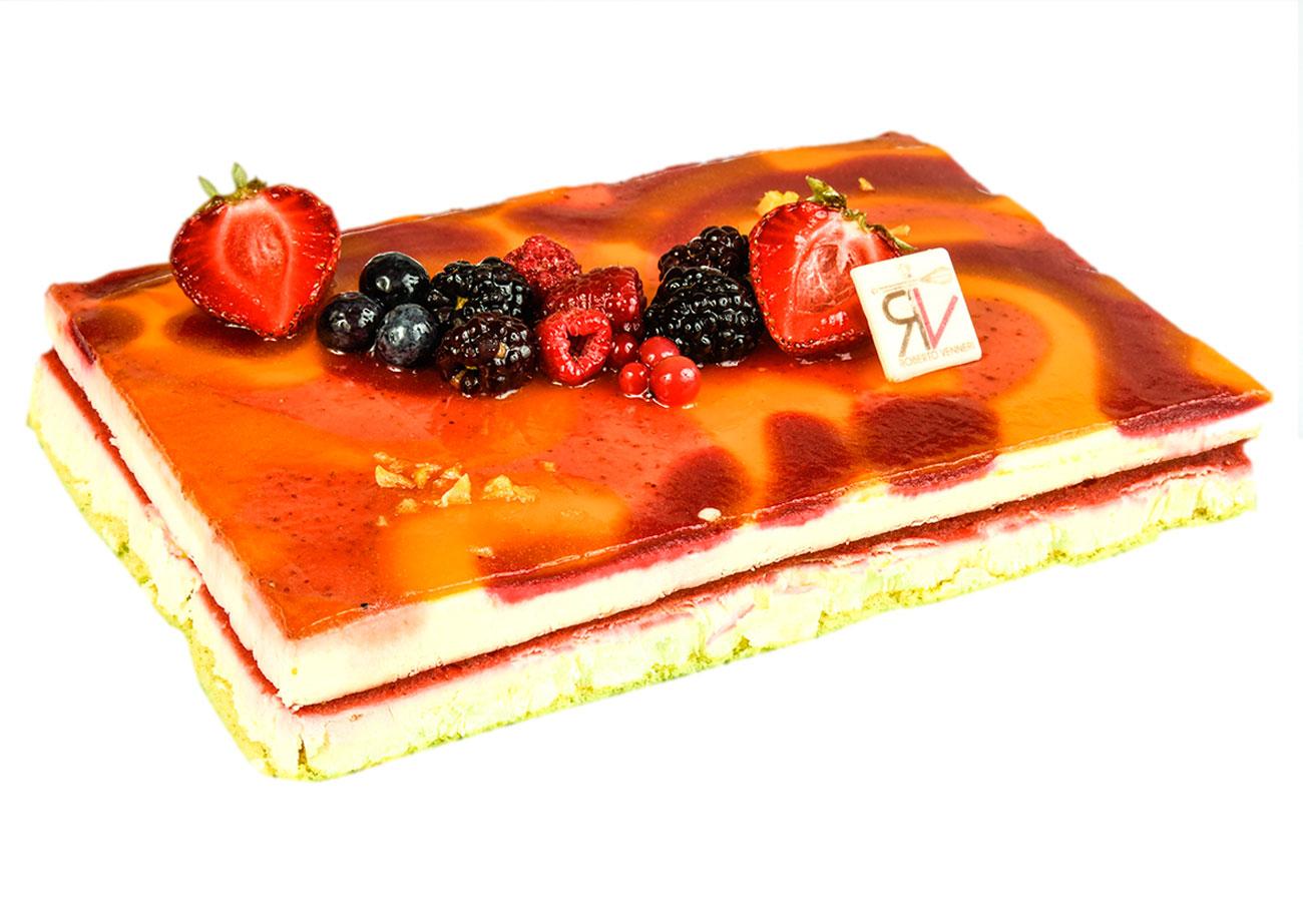 torta semifreddo frutti di bosco